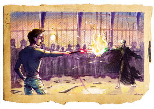 harry potter wallpaper titled Harry vs Voldemort