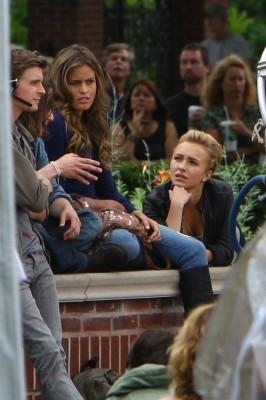 Hayden on set Scream 4