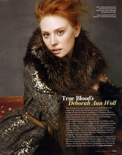 Deborah Ann Woll wallpaper entitled Instyle (August 2010)