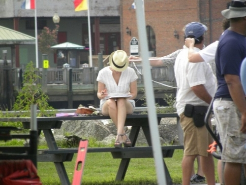 Joy on Set (July 20, 2010)
