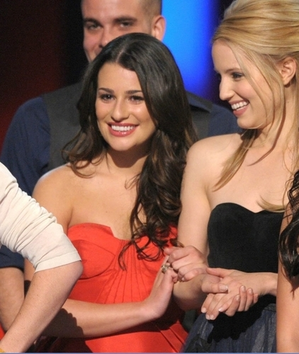 Lea Michele and Dianna Agron wallpaper entitled Lea & Dianna