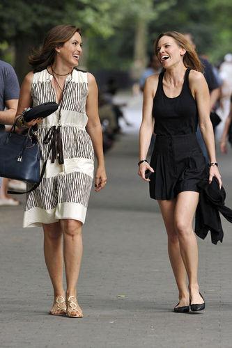 Mariska and Hilary swank