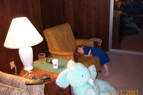Me when i was little sleeping standing up