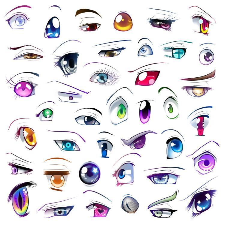More anime eyes - Anime Fan Art (13922176) - Fanpop