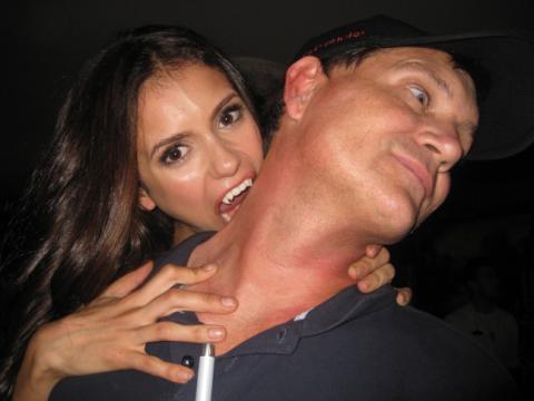Nina Dobrev & Kevin Williamson - the-vampire-diaries photo