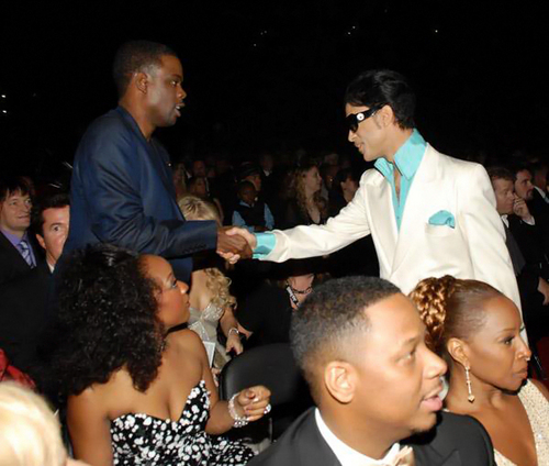 Prince and Chris Rock