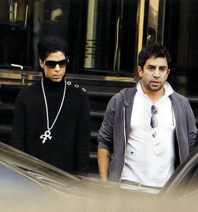 Prince out and about