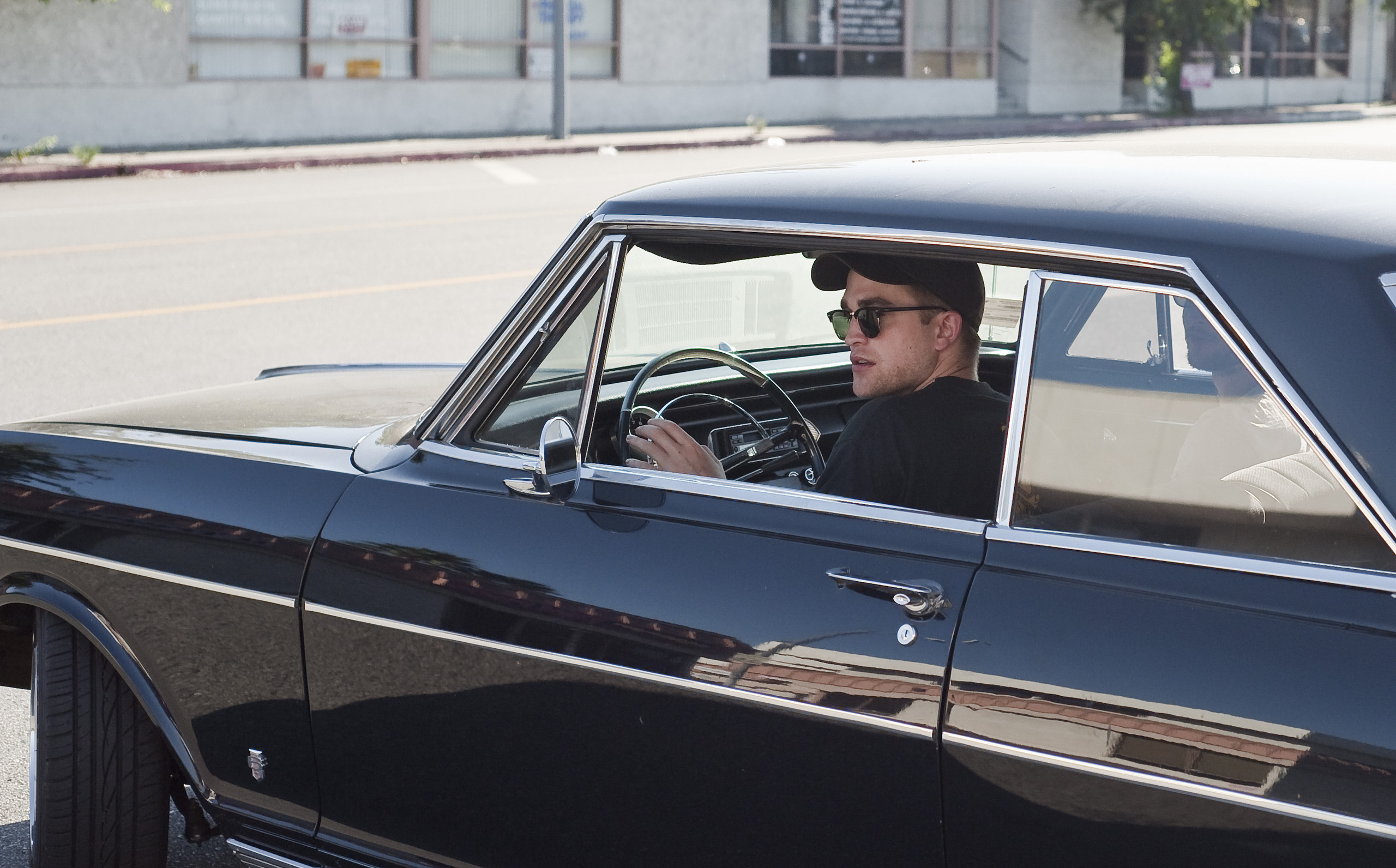Rob and Tom drivin around in an old Chevy - July 17th, 2010