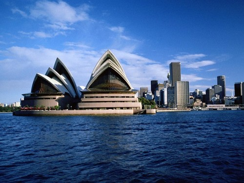 Australia achtergrond titled Sydney - Opera House