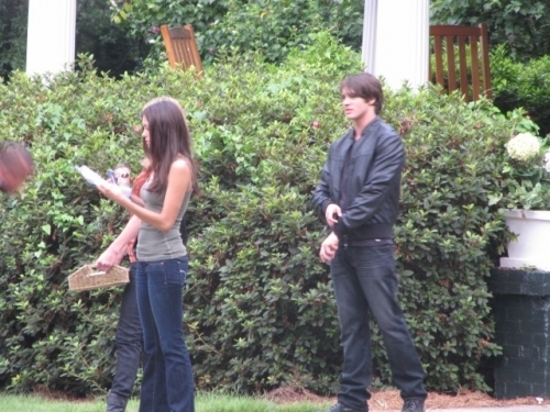 TVD on set Season2