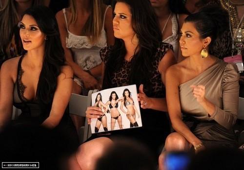 The Kardashians @ pantai Bunny Swimwear MBFW Swim 2011