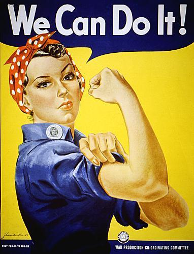Feminism 바탕화면 titled We Can Do It!