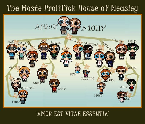 Weasley Family Tree - harry-potter Photo