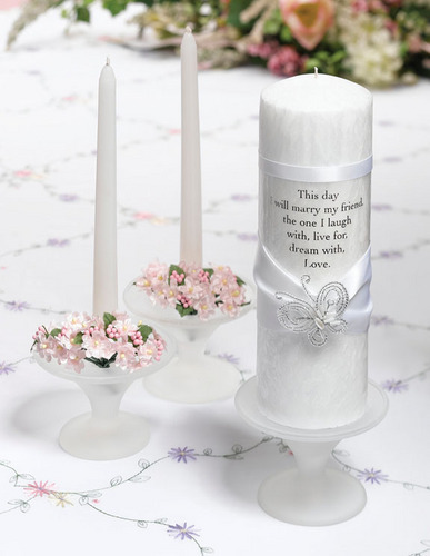 Wedding Candles For Peter And Susie <3