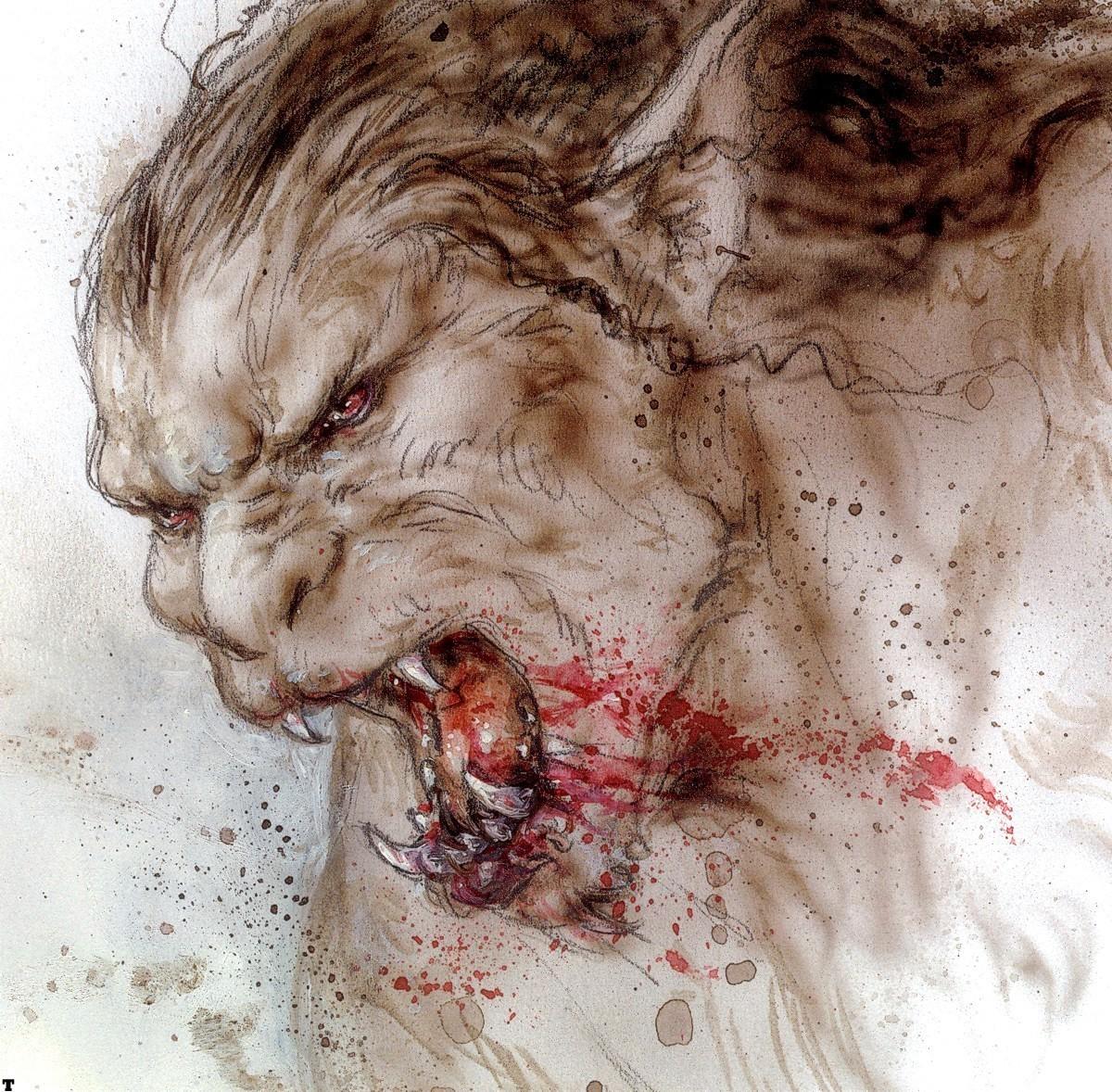 hombres lobo por Luis Royo