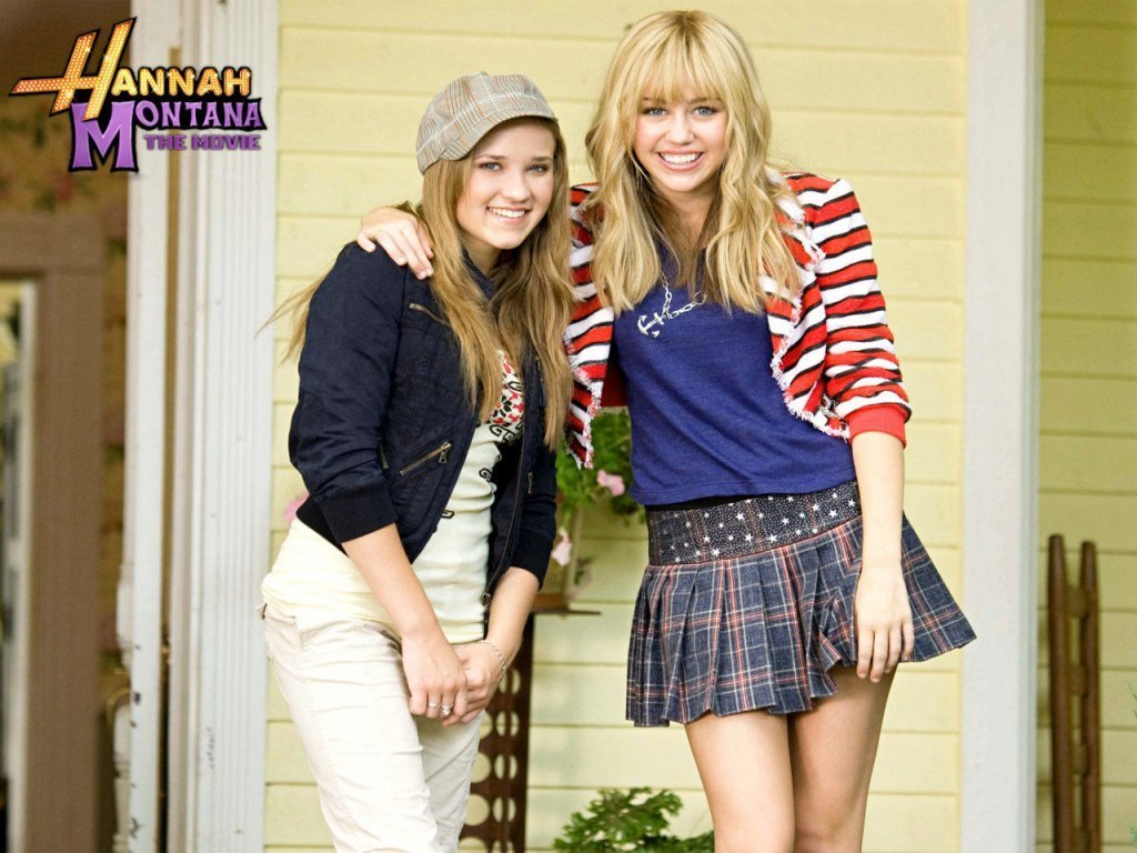 "Emily and Hanna in ""Hannah Montana: The movie""."