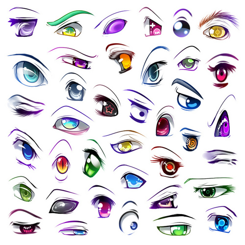 manga eyes - manga Fan Art