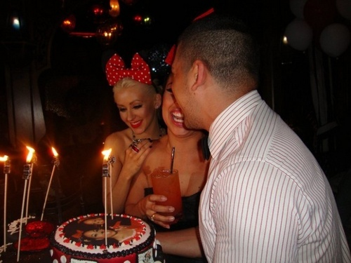 monique 30th surprise bd party at christina`s house in BH