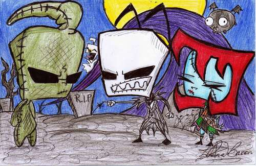 Invader Zim wallpaper called AT-IZ and TNBC crossover