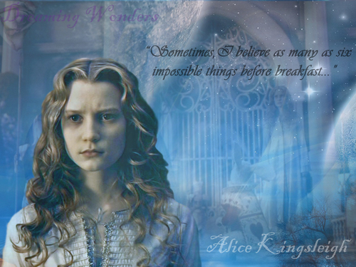 Alice in Wonderland (2010) kertas dinding called Alice Kingsleigh