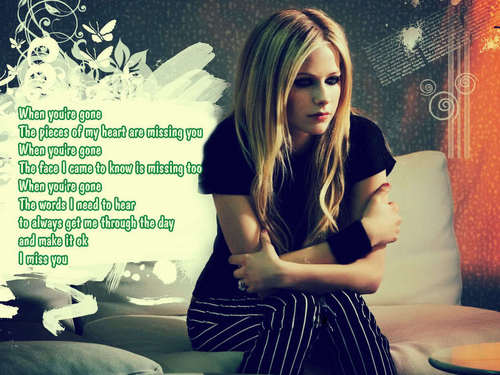 Avril Lavigne *when you're gone(