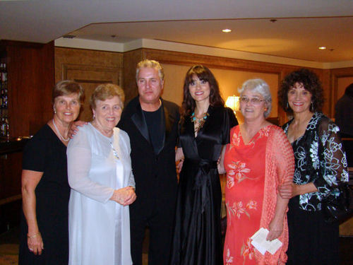 Billy his sisters and wife at the Sarah Siddons Award ceremony