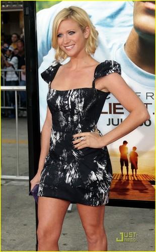 Brittany Snow: Neon Yellow Heels!