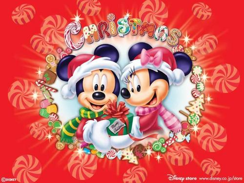 classic disney wallpaper entitled Holiday Mickey & Minnie