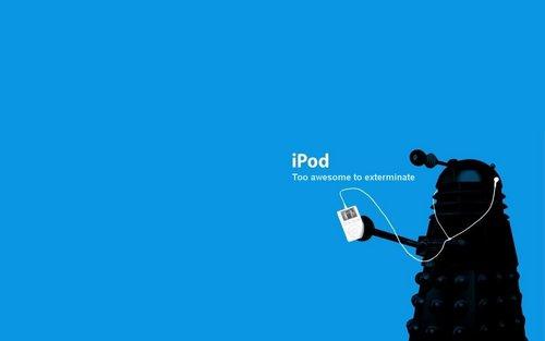 Dalek iPod karatasi la kupamba ukuta