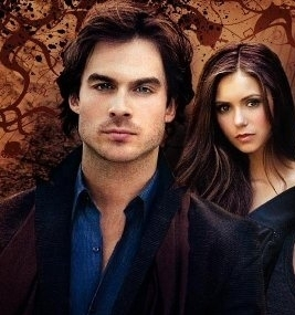 The Vampire Diaries Couples 壁纸 titled Damon and Elena!!