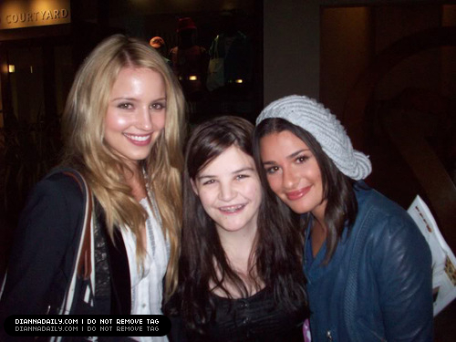 Dianna & lea and fans