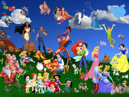 Disney Cartoon Hintergrund