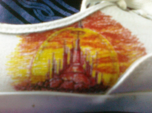 Gallifrey- on shoe