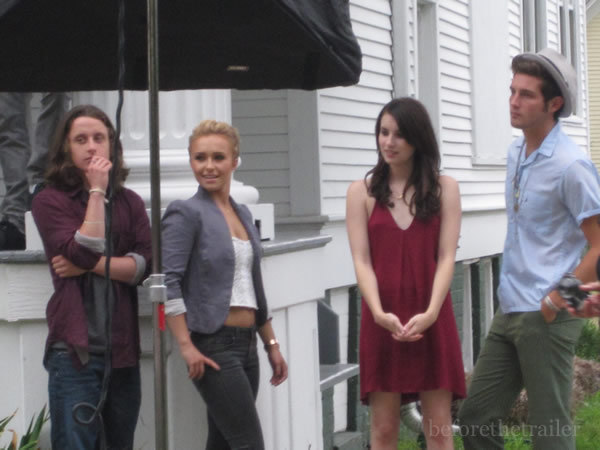 hayden panettiere scream 4. Hayden on set Scream 4