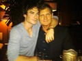 Ian somerhalder and the crew - damon-salvatore photo