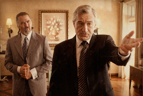 Robert DeNiro as Senator McLaughlin & Jeff Fahey as Michael Benz