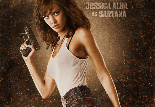 Machete kertas dinding entitled Jessica Alba as Sartana