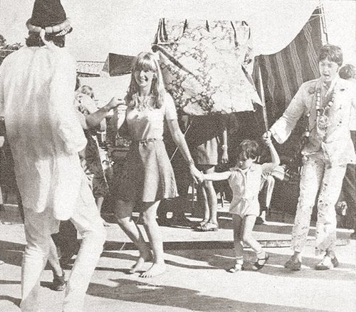 Julian with Jane Asher and Paul McCartney in Greece, 1967