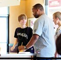 Justin bieber goes to the boston market with some Marafiki