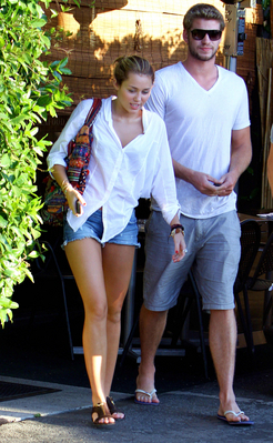 Liam & Miley out in Studio City