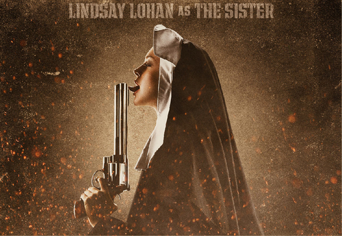 Machete kertas dinding called Lindsay Lohan as The Sister