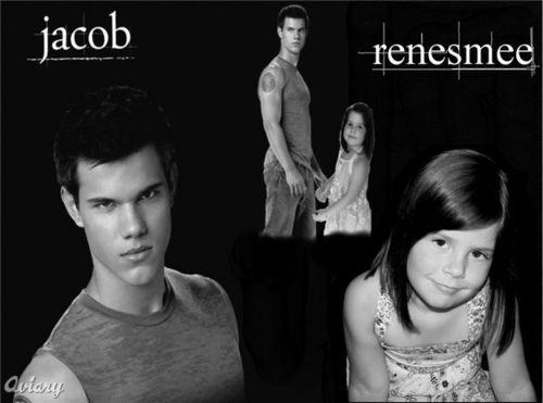 जेकब ब्लैक वॉलपेपर entitled Renesmee & her Jacob