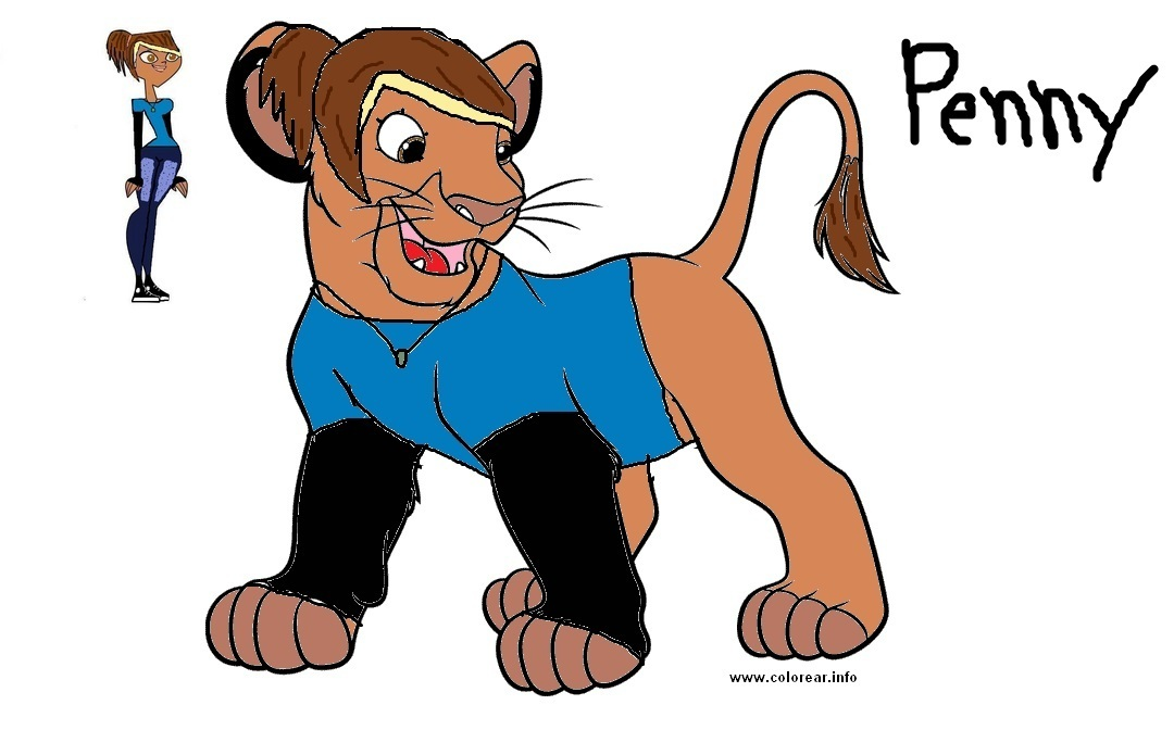 Request for CourtneyGirl: Penny as a lion