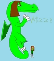 Request for lola641, Mizzie as a dragon - total-drama-island fan art