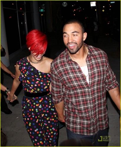 Rihanna: Polka Dot Jumpsuit!