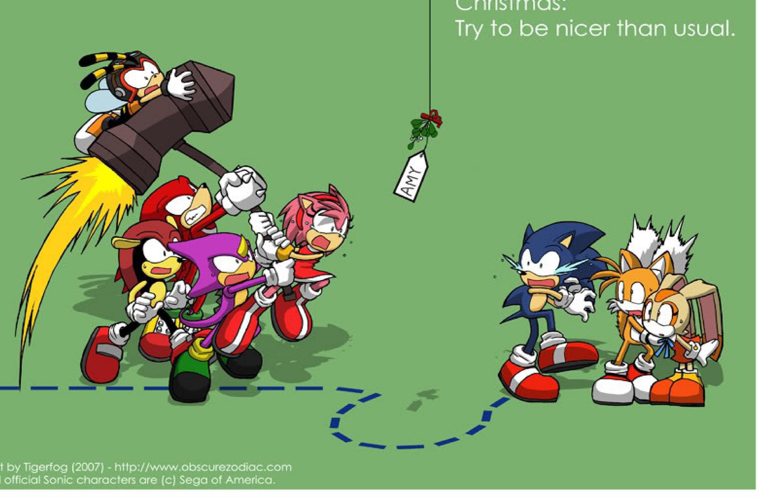 SONIC Weihnachten Bilder Run Sonic Amy Got A New Hammer HD ...