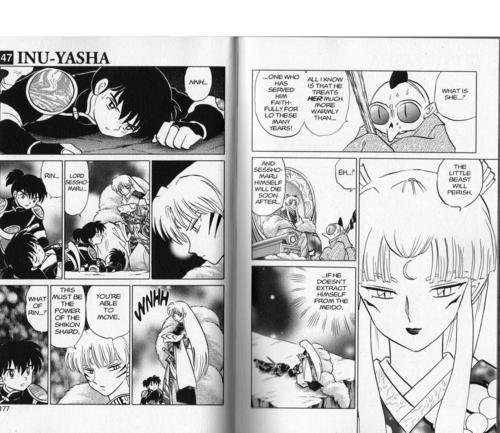 Sesshomaru, Rin and Kohaku, mangá volume 47
