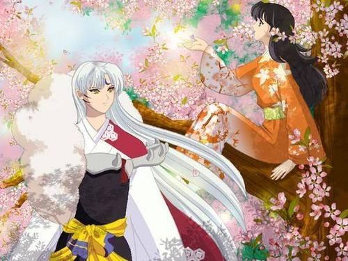 Sesshomaru and Rin wallpaper entitled Sesshomaru and Rin