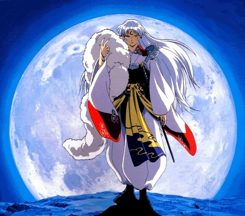 Sesshomaru fondo de pantalla titled Sesshomaru and the Moon
