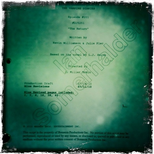 Damon Salvatore wallpaper entitled Vampire Diaries Season 2 Script